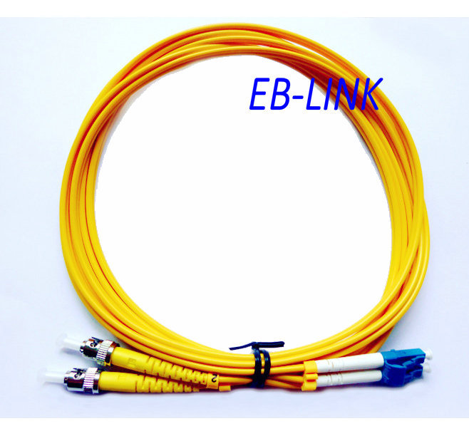 Оптическое волокно патч-корд кабель, LC / PC-ST / pc, 3.0 мм, одномодовый 9/125, дуплекс, LC ст 25 м