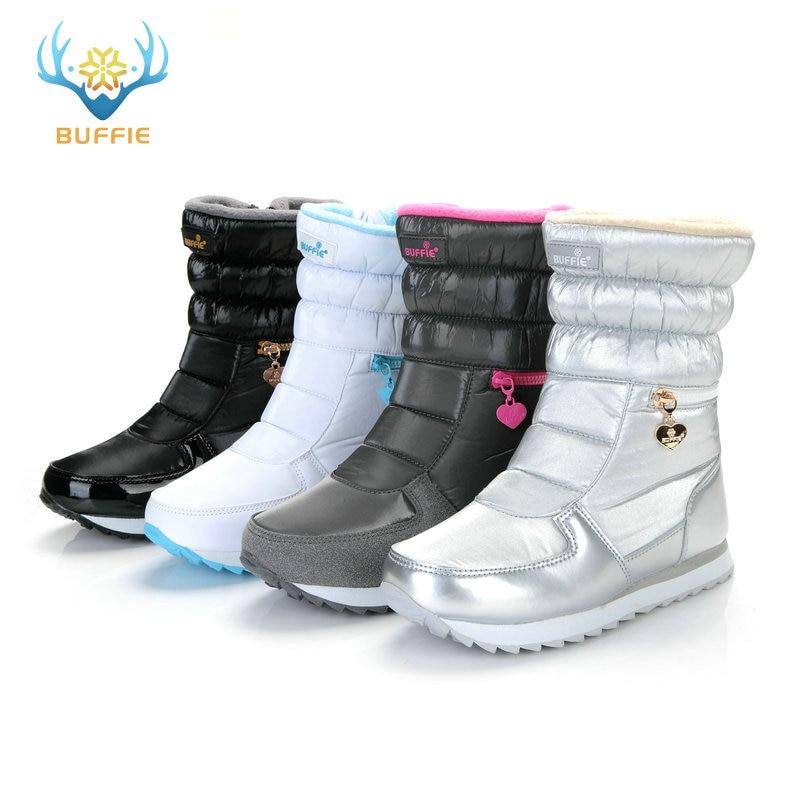 Sepatu bot musim dingin putih, Fashion wanita sepatu salju, Gaya baru - Sepatu Wanita - Foto 4