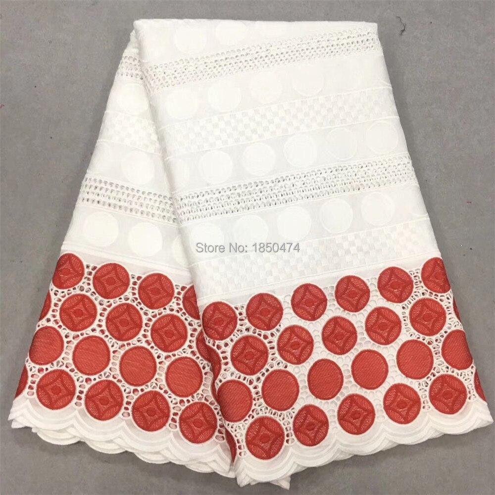 الأبيض الأحمر 100% دانتيل فوال قطن السويسري الدانتيل عالية الجودة السويسري فوال دانتيل في سويسرا مع دائرة تصميم للنساء اللباس 13F-في دانتيل من المنزل والحديقة على  مجموعة 1