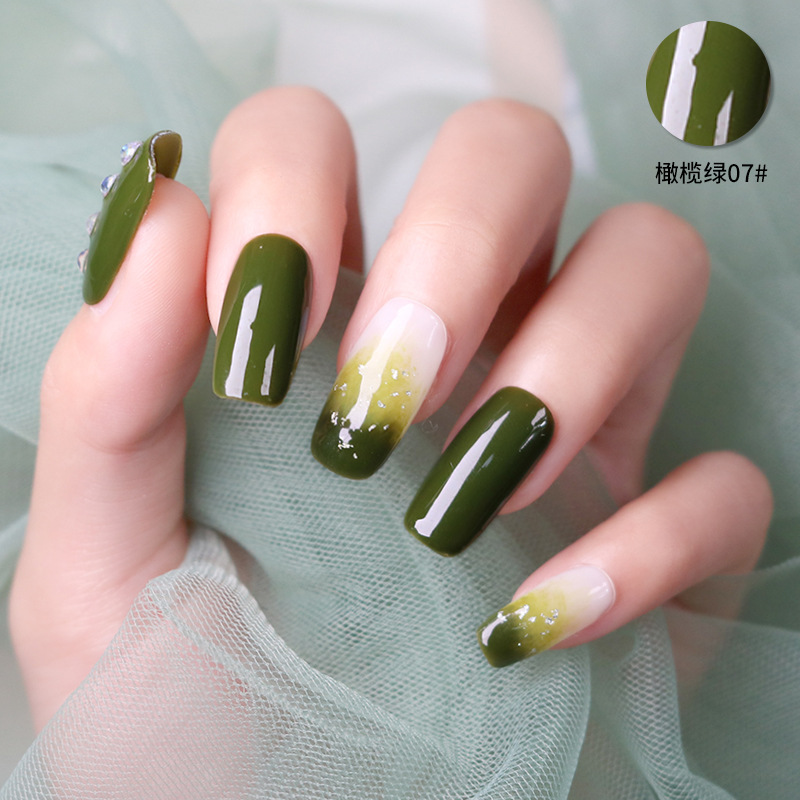 Best Top Olive Green Nail Ideas And Get Free Shipping A213