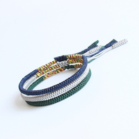 Eastisan Multi Color Rope Tibetan Buddhist Handmade Lucky Knots Bracelet Same Model As Leonardo DiCaprio Hot