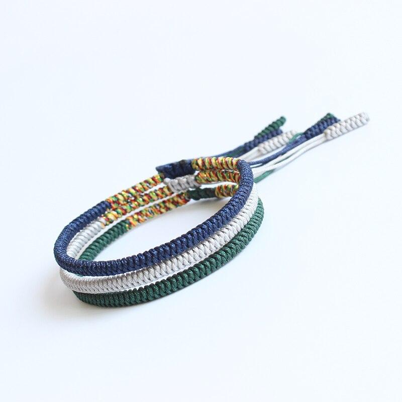 Eastisan Multi Color Rope Tibetan Buddhist Handmade Lucky Knots Bracelet Same Model As Leonardo DiCaprio Hot