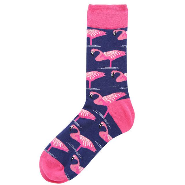 Men Combed Cotton Flamingo socks