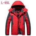 2016 nuevo invierno yardas grandes de terciopelo grueso de Los Hombres capa de la chaqueta de los hombres de Viento y impermeable chaqueta informal caliente L-4XL5XL6XL7XL8XL9XL