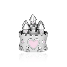 CKK 925 Sterling Silver Dream Castle Beads Suitable For Original Pandora Bracelet DIY Production Jewelry Accessories