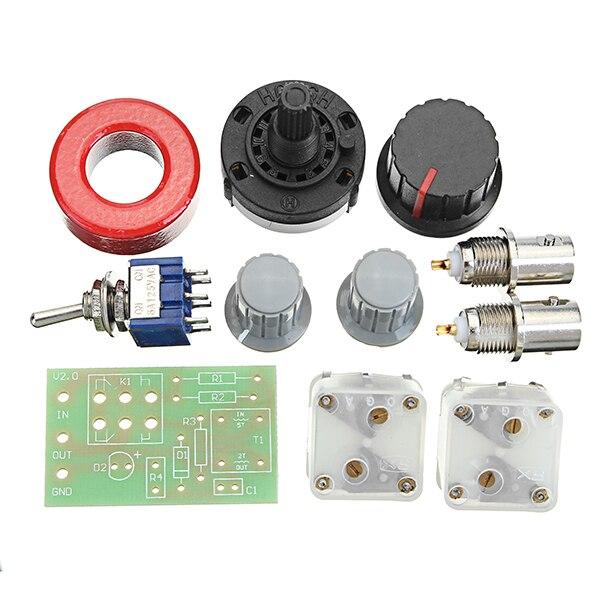 1-30Mhz LED VSWR DIY Manual Antenna Tuner Kit Module For HAM RADIO For CW  QRP Q9 BNC Interface