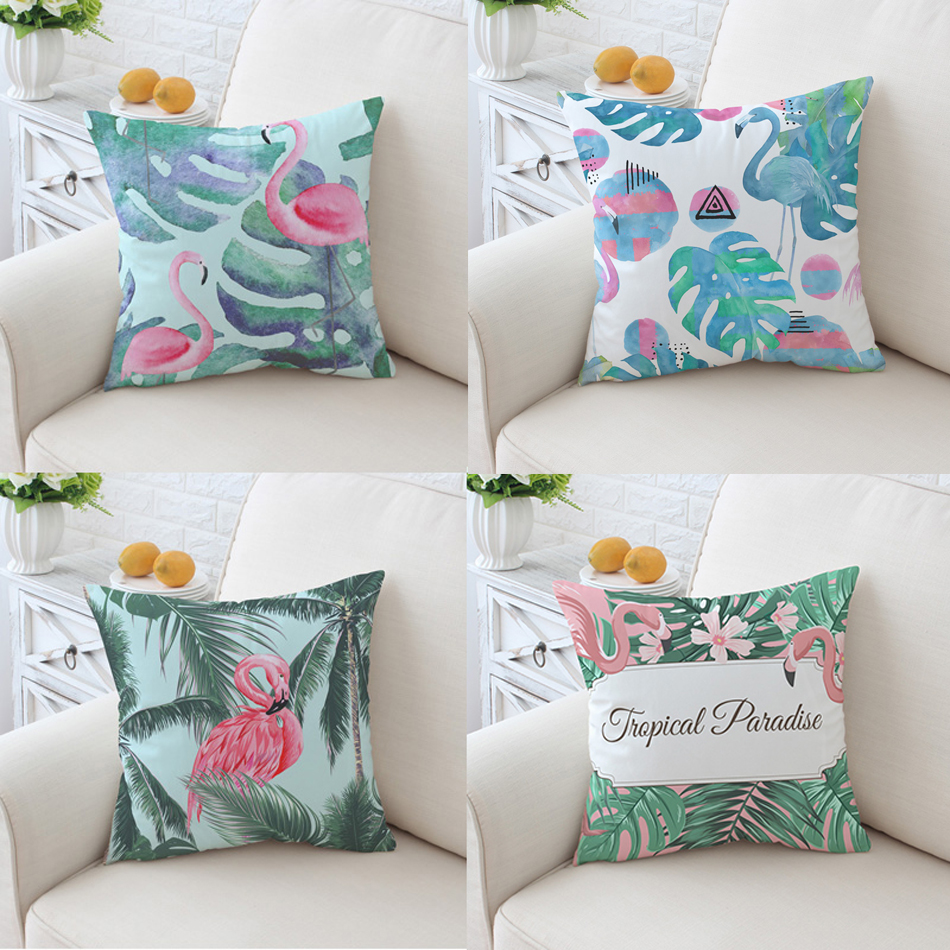 2019 Supersoft Velvet Flamingo Pillow Cover Home Decor