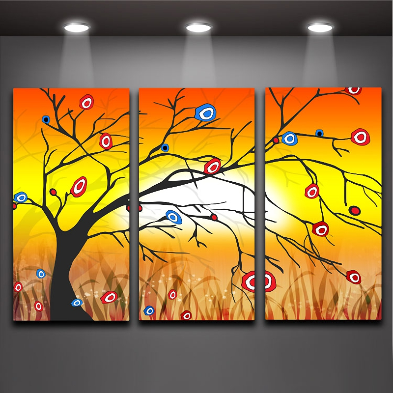 3 Panels Wall Art Picture Creative Money Tree Wall Painting Printed ...