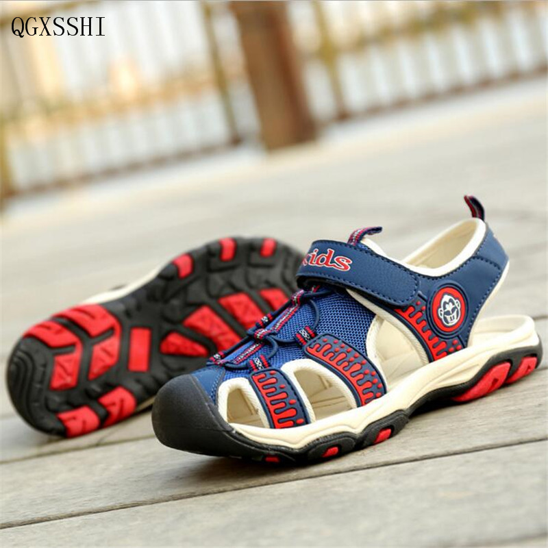QGXSSHI High quality Boys sandals Summer new Brand Children shoes Ultra-light fashion boys kids sandals breathable flats shoes