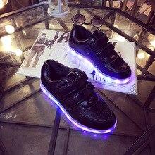 USB Glowing Sneakers Kids Shoes Girls Boys Light Lights Illuminated Chaussure Enfant Fille Menina Girl Sapato Infantil Sapatilha