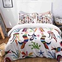 Русалка Дизайн цифровой печати постельное белье нам Твин Полный queen King Размеры Стёганое одеяло наволочка 3D постельного белья