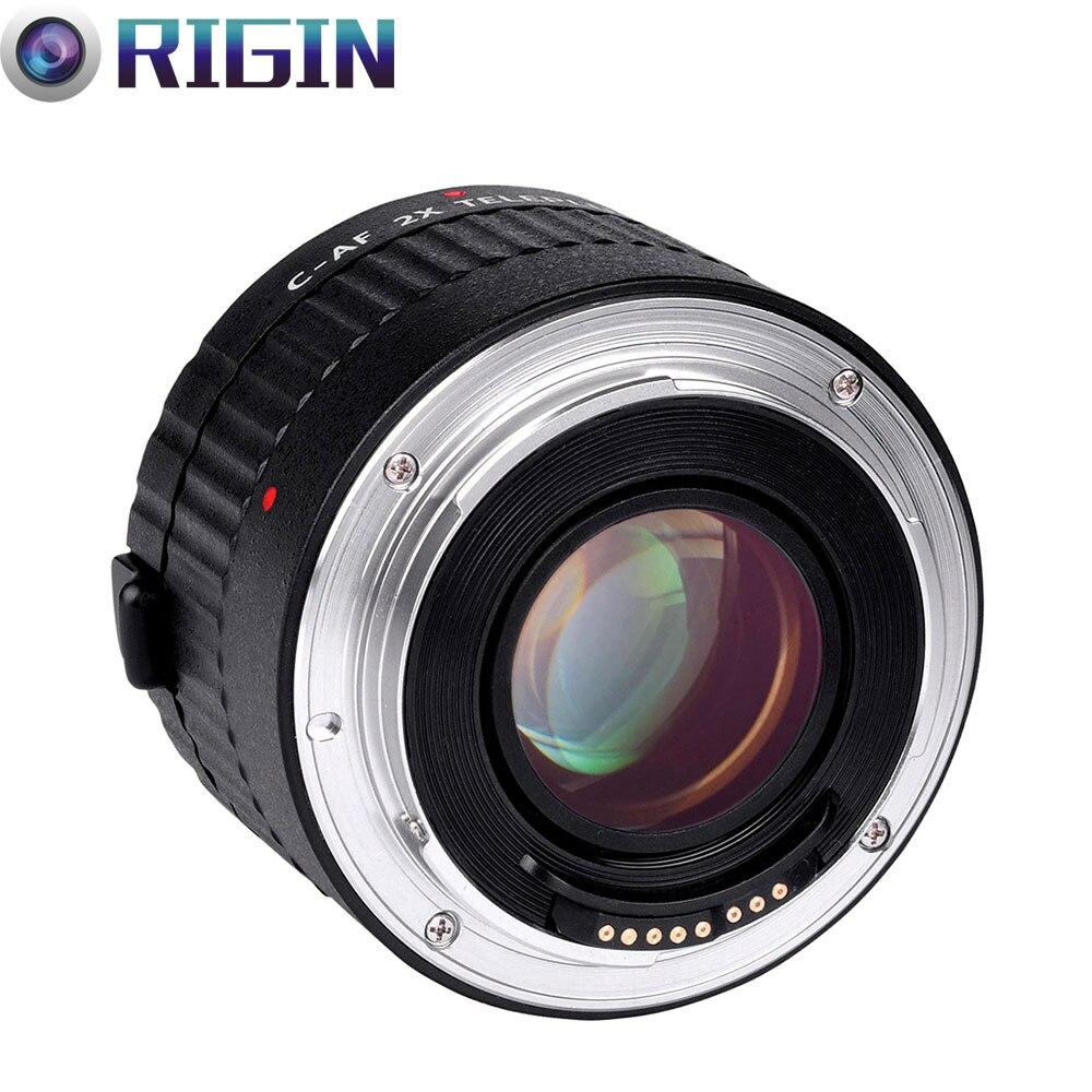 VILTROX C-AF 2X AF Auto Focus téléconvertisseur lentille Extender grossissement objectifs de caméra pour Canon EF monture objectif DSLR appareil photo