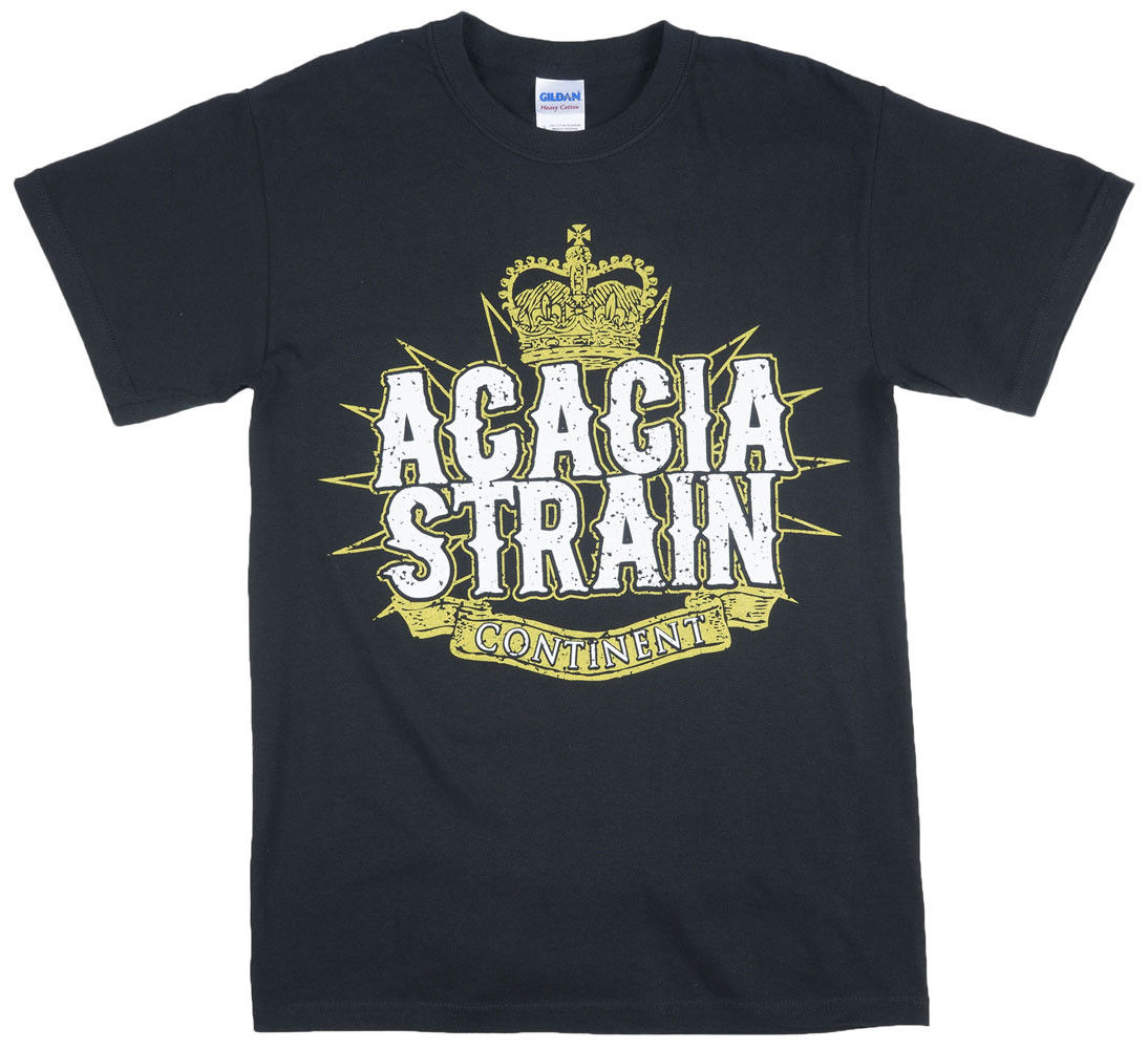 The Acacia Strain Continental T-Shirt Metalcore Band Mens Black T-Shirt Casual Short Sleeve For Men Clothing Summer 2018 image