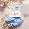2016 novo bebê menino roupas de verão conjunto roupa de crianças menino