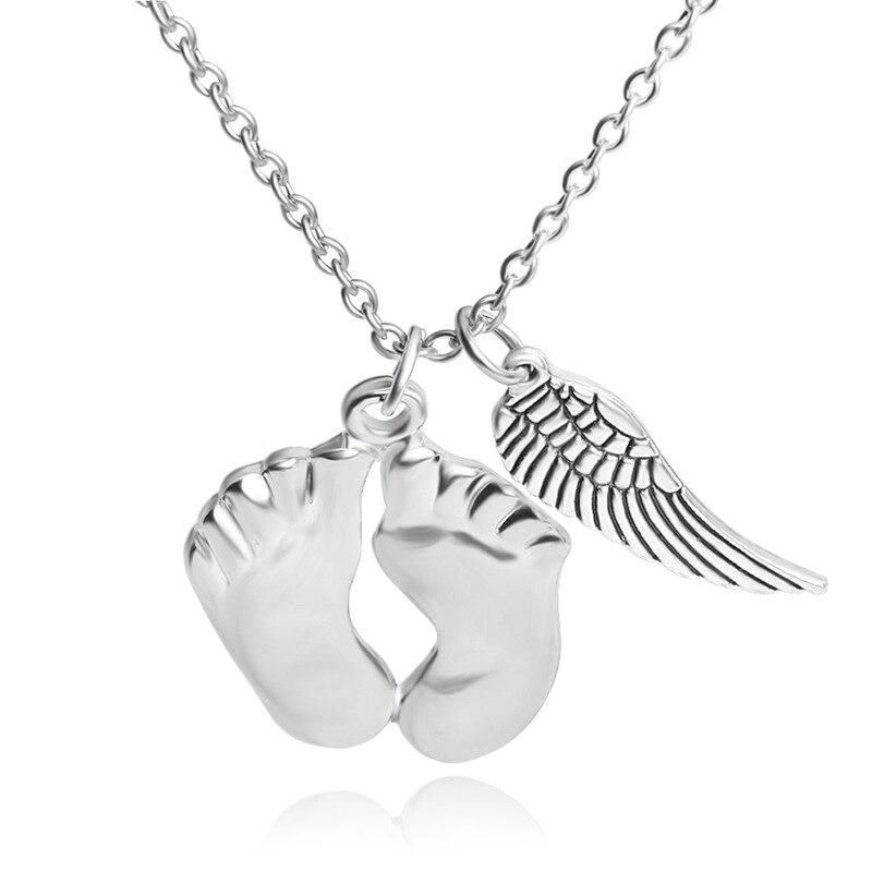 Подарок на день матери Модные Серебристые Цвет ножки крыла Шарм Цепочки и ожерелья для ног звено цепи ожерелья и кулоны