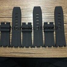 Nueva Llegada A Prueba de agua Negro Caucho de Silicón WatchWrist reloj Correa de Banda de Reemplazo 28mm