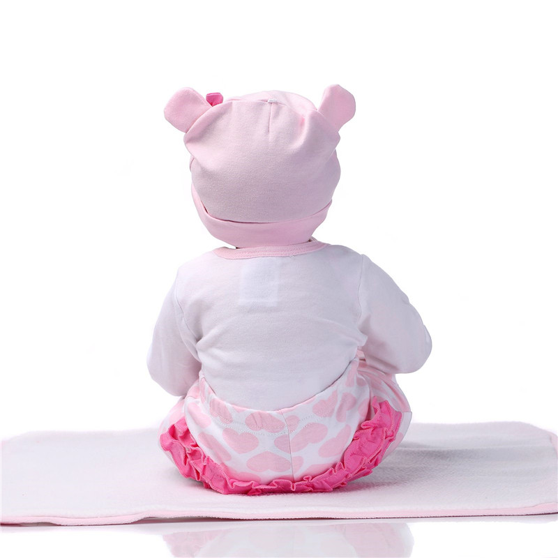 NPK 55cm Silikon Reborn Sleeping Baby Doll Kids Playmate Gave til - Dukker og utstoppede leker - Bilde 4