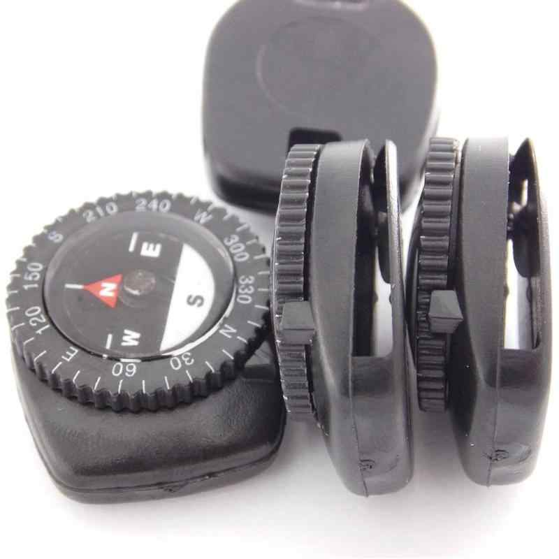1pcs เข็มทิศเข็มทิศ Paracord สร้อยข้อมือนาฬิกาสายคล้องกระเป๋าตัดเข็มทิศทิศทางกลางแจ้ง GUID เครื่องมือ