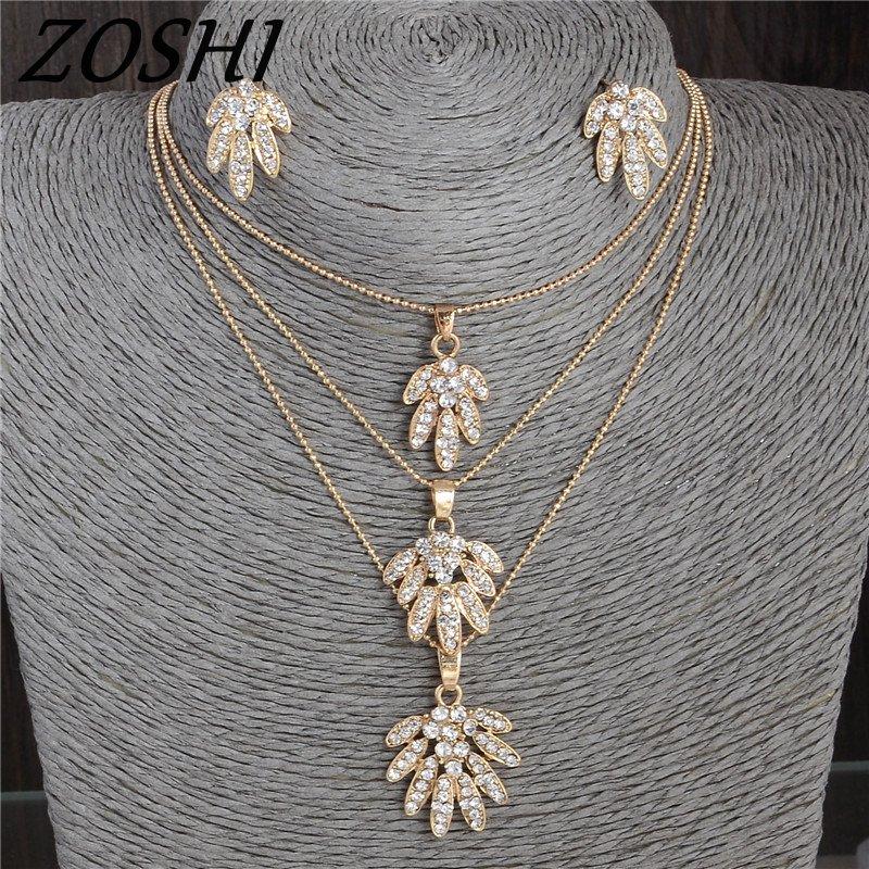ZOSHI Fashion Bling Crystal Flower Jewelrys