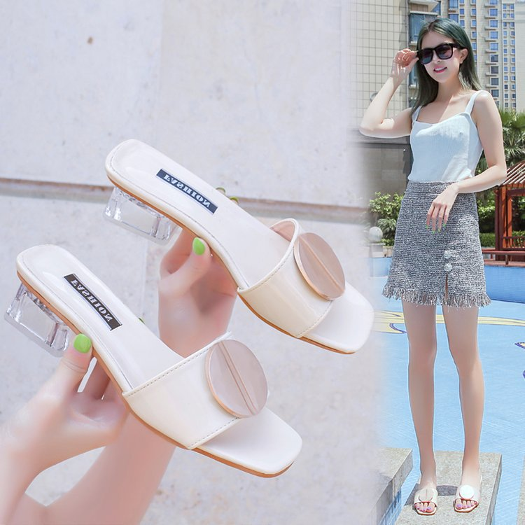 BRKWLYZ nutricula Summer shoes woman open toe heels sandals Transparent Square high heels sandals women wedge slipperBRKWLYZ nutricula Summer shoes woman open toe heels sandals Transparent Square high heels sandals women wedge slipper