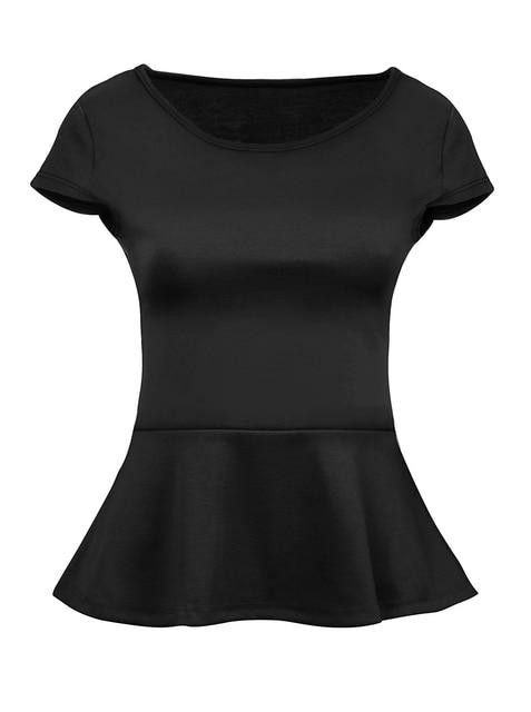 bc8e551ebbe7e Customize Short Sleeve Womens Peplum Shirt Reg and Plus Size Peplum Ruffles  Top