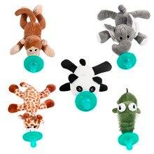 Детская Силиконовая пустышка Chupeta мультфильм Соска с животным с мягким плюшем игрушечная еда-класс силиконовые игрушки для новорожденных соски BPA бесплатно