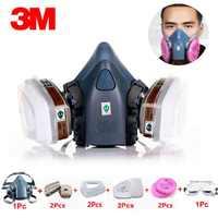 3M 7502 Maschera Antigas 10 in 1 Vernice Spray Chimico Organico di Gas di Protezione 6001/2091 Filtro per la Decorazione di Protezione Antipolvere