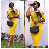 2019 elegent new arrival fashion style african women summer plus size knee length dress M XXL