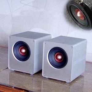 Image 1 - A300 4 Inch All aluminum Full range Amplifier Speaker Home Audio Aluminum Iron Boron Strong Magnetic Speaker A Pair