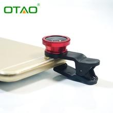 Универсальный 3-в-1 0.67x Широкоугольный Макро Объектив Рыбий Глаз Комплект с Зажимом мобильный Телефон Объектив Рыбий Глаз для iPhone Для Samsung Объектив 4 ШТ.