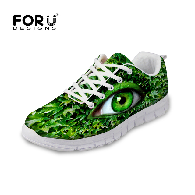 Chaussures Green Casual Big Automne Femmes Pattern Chaussures Eyes Forudesigns 0wfx5qw
