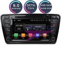 Roadlover Android 8.0 Car Multiumedia DVD Player Radio For Skoda Octavia 2014 2015 2016 Stereo GPS Navigation Automagnitol 1 Din