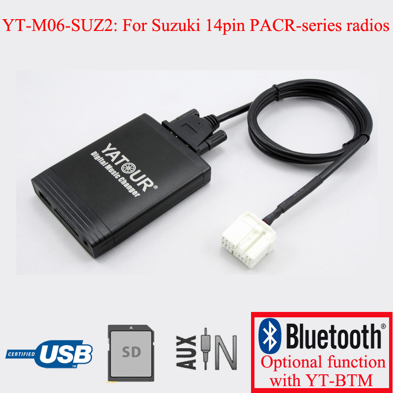 Yatour Car USB SD digital interface MP3 player for Suzuki 14pin PACR series radios yatour digital music changer aux in sd usb mp3 adapter for suzuki clarion ce net radios