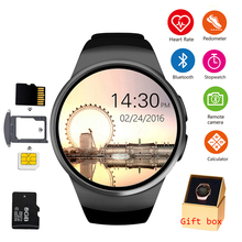 цена на KW18 Bluetooth Smart Watch Phone Full Screen Support SIM TF Smartwatch Heart Rate for IOS iPhone Android Samsung Xiaomi PK KW88