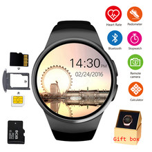KW18 Bluetooth Smart Watch Ponsel Penuh Layar Mendukung SIM TF Smartwatch Heart Rate untuk Ios iPhone Android Samsung Xiaomi PK KW88(China)