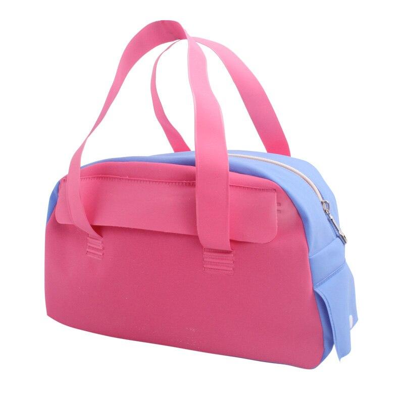 Prix pour Femmes rose en nylon imperméable sacs nouvelle belle fille polyvalent gym sac à main combo sec humide portable sac maman de stockage sport sac