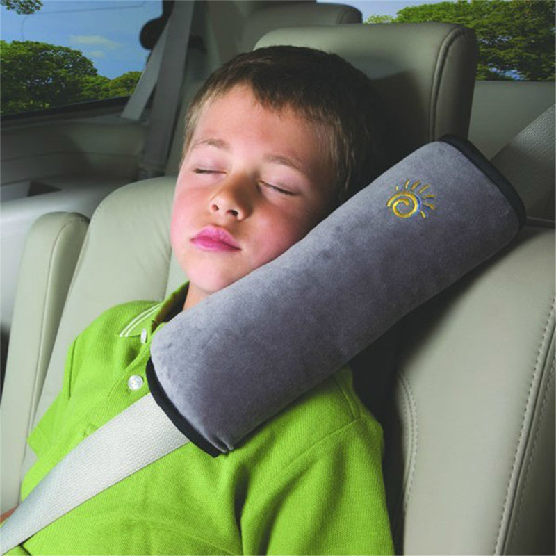 Baby Children Safety Strap Micro-suede Fabric Car Seat Belts Pillow Shoulder Protection 28x9x12cm