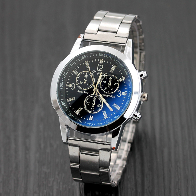 hot sale Stainless Steel Sport Luxury Fashion Mens Glass Quartz Analog watch Watches dropshipping mens watches women watch hot sale delicate casual noble men motion form stainless steel sport quartz hour wrist analog watch 4