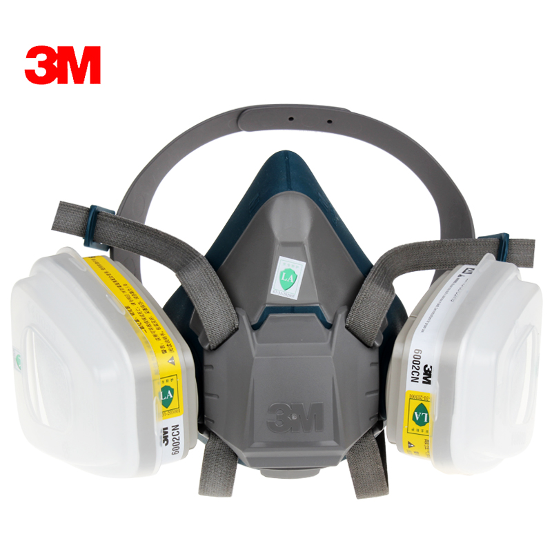 3M 6502 6002 Half Facepiece Mask with Acid Gas Cartridge Respiratory Protection Against Certain Acid Gas CL2/SO2/HCl/ H2S GM378 3m 6002 acid gas cartridge respiratory protection niosh approved against certain acid gas cl2 so2 hcl h2s use with 3m mask m848