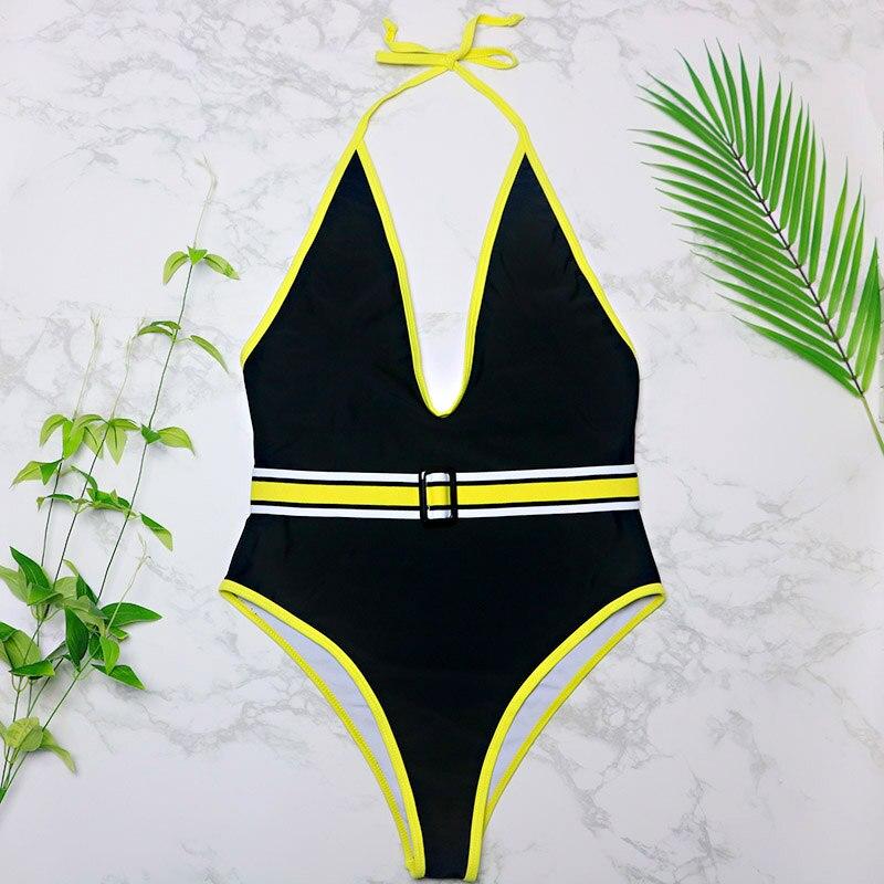 7d87329246 Backless Sexy di Alta Cut di Un Pezzo del Costume Da Bagno Delle Donne  Costumi Da