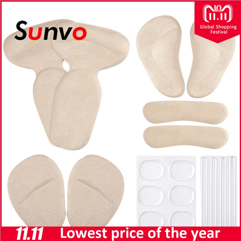 Sunvo High Heels Shockproof Insert Care Pad for Liner Forefoot Insole Slip-resistant Heel Sticker Pain Relieve Heel Cushion Pads sxtt women non slip gel invisible forefoot pad insole high heel shoes ankle socks anti slip hot women lady beauty relieve pain