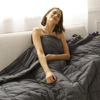 Прохладный взвешенный тяжести, тяжелых Одеяло для взрослых Для женщин Для мужчин натуральный глубокий сон, уменьшить стресс, беспокойство,