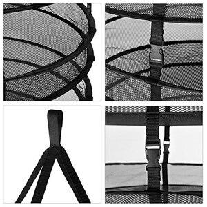 Image 3 - Hyindoor 분리형 수확 건조 랙 와이어 메쉬 세탁 가방 교수형 허브 건조 옷 바구니 8 계층 직경 60 cm