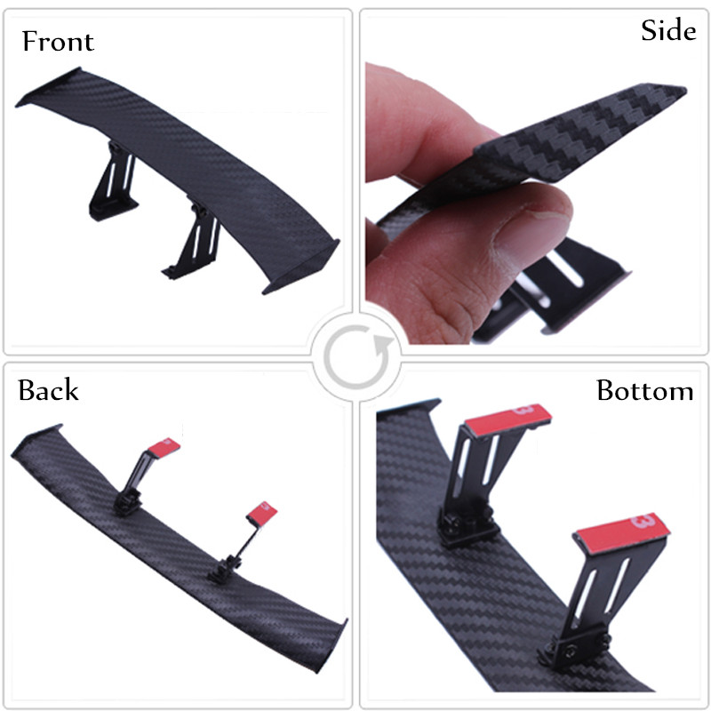 New Car-styling Mini Model Car Spoiler Rear Wing Sticker For Toyota Sequoia Soarer Sprinter Carib Succeed Urban Cruiser Vanguard