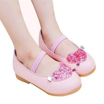 promo code e26e6 3a900 Xinfstreet Mädchen Schuhe Prinzessin Pu-leder Nette Kleine Kinder Schuhe  Für Mädchen herzförmigen Bling Kinder Tanzschuhe Größe 21-36