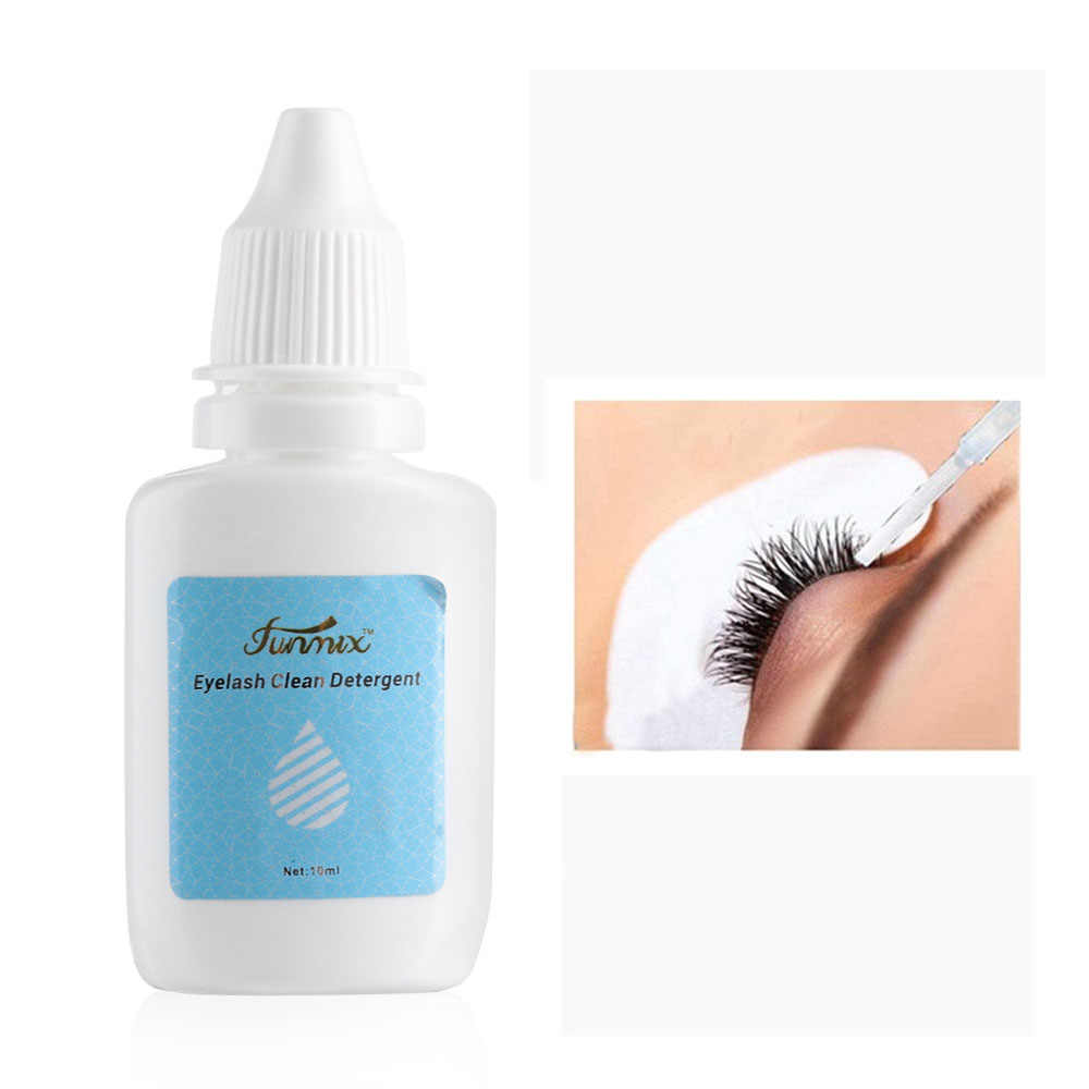 10ml Eyelash Cleaner Primer False Eyelash Extension Clean Liquid Eye Lashes Before Planting Eyelash Grafting Cleanser