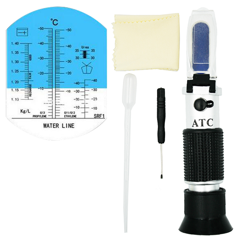 Handheld Optical 4 in 1 Car Adblue Urea Concentration Refractometer Battery Fluid Ethylene Propylene Glycol Testing with ATC 48% hand held optical 4 in 1 car adblue urea concentration testing refractometer battery fluid ethylene propylene glycol atc
