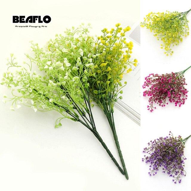 1 Букет DIY искусственного дыхания ребенка цветок Гипсофила силикон fake растение для свадьбы домашние Декорации для вечеринки