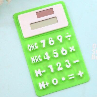 Калькулятор способны научный калькулятор прекрасный солнечный силикагель мини офисный компьютер канцелярские компьютер Мягкий Deli кальку...
