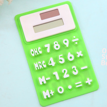 Calculator capable scientific calculator lovely solar silica gel mini office computer stationery computer soft deli calculator